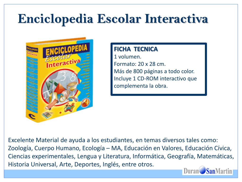 Enciclopedia Escolar Interactiva