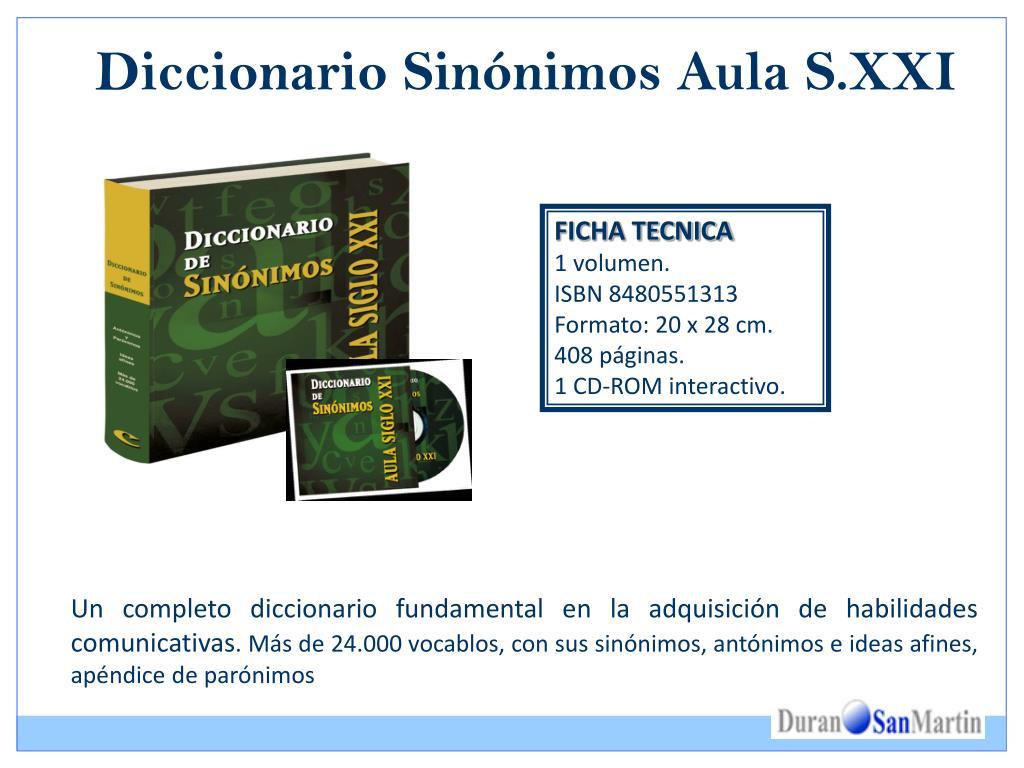 Diccionario Sinónimos Aula S.XXI