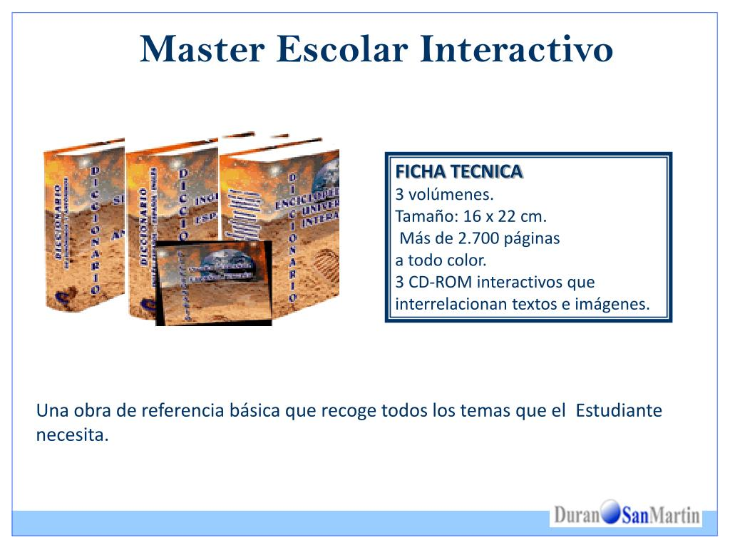 Master Escolar Interactivo
