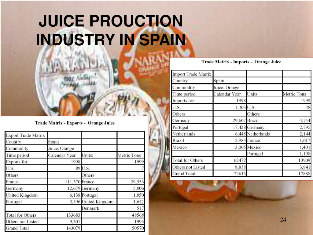 JUICE PROUCTION INDUSTRY IN SPAIN