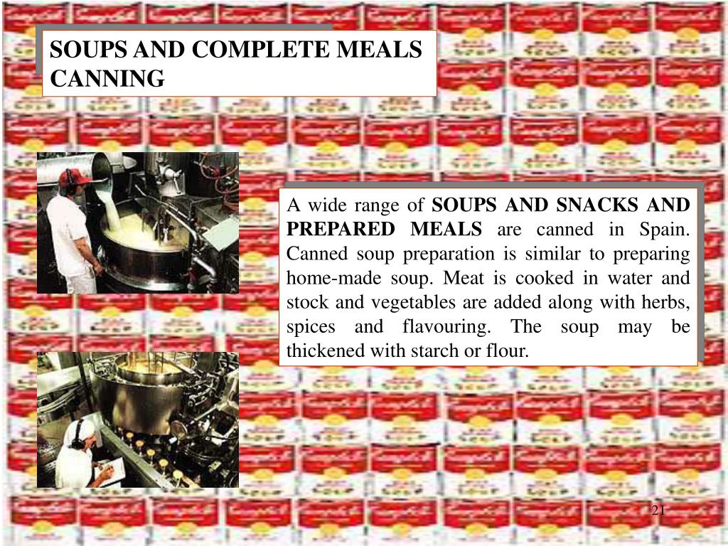 SOUPS AND COMPLETE MEALS CANNING
