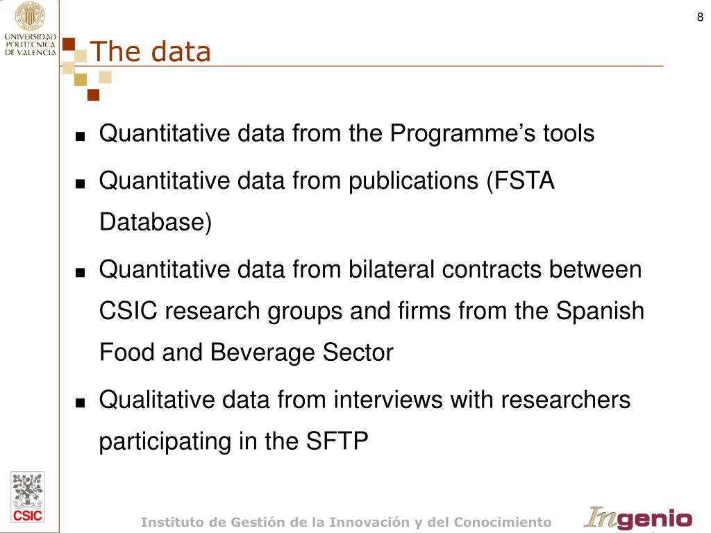 Quantitative data from the Programme's tools