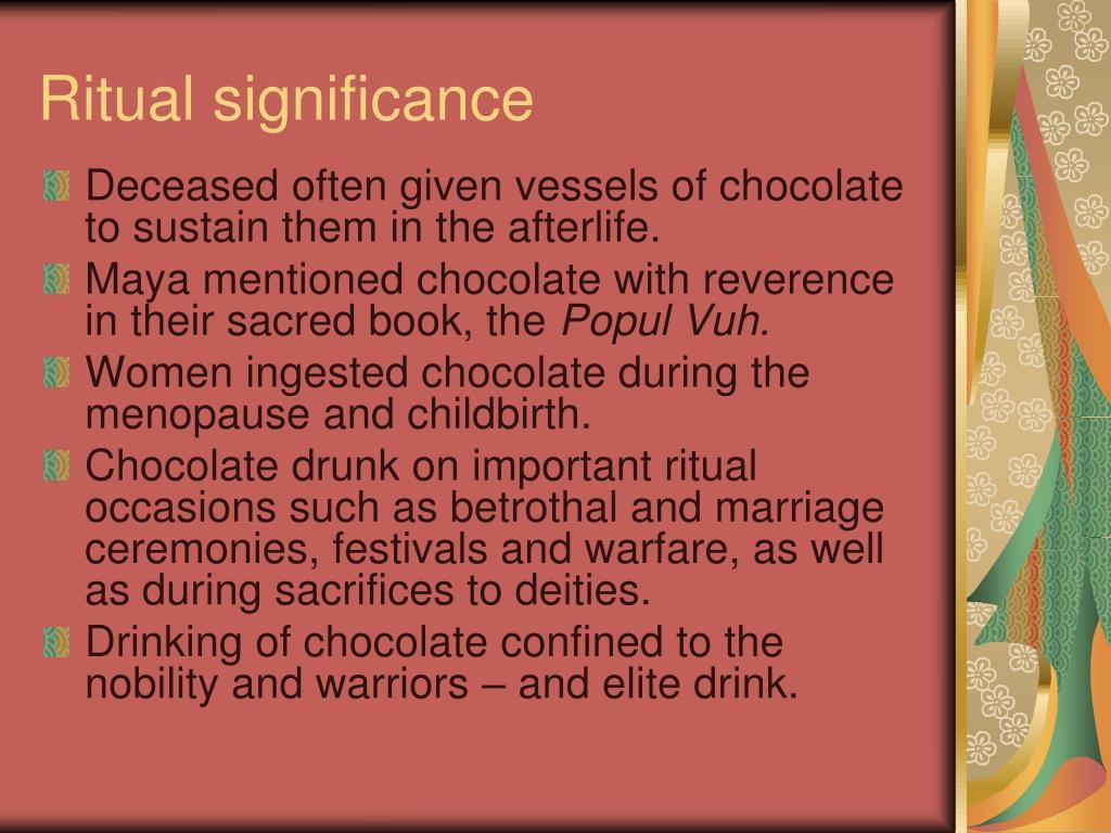 Ritual significance