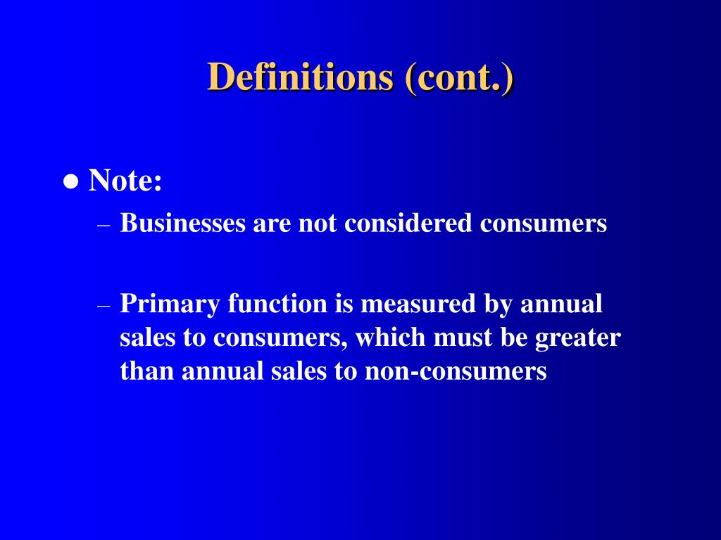 Definitions (cont.)