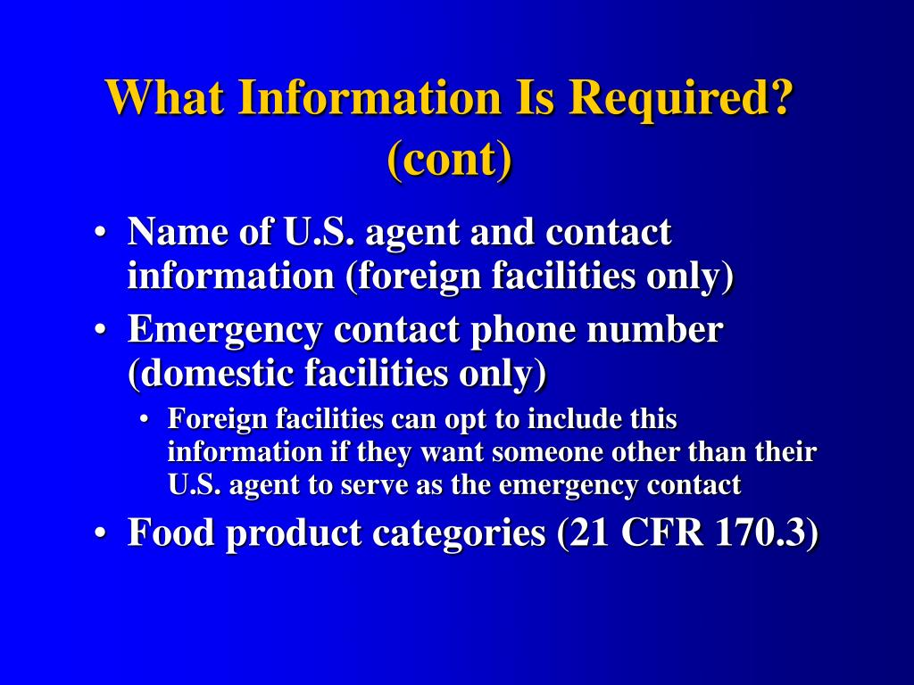 What Information Is Required?