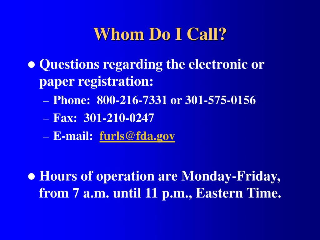 Whom Do I Call?
