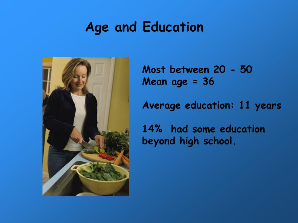 Age and Education