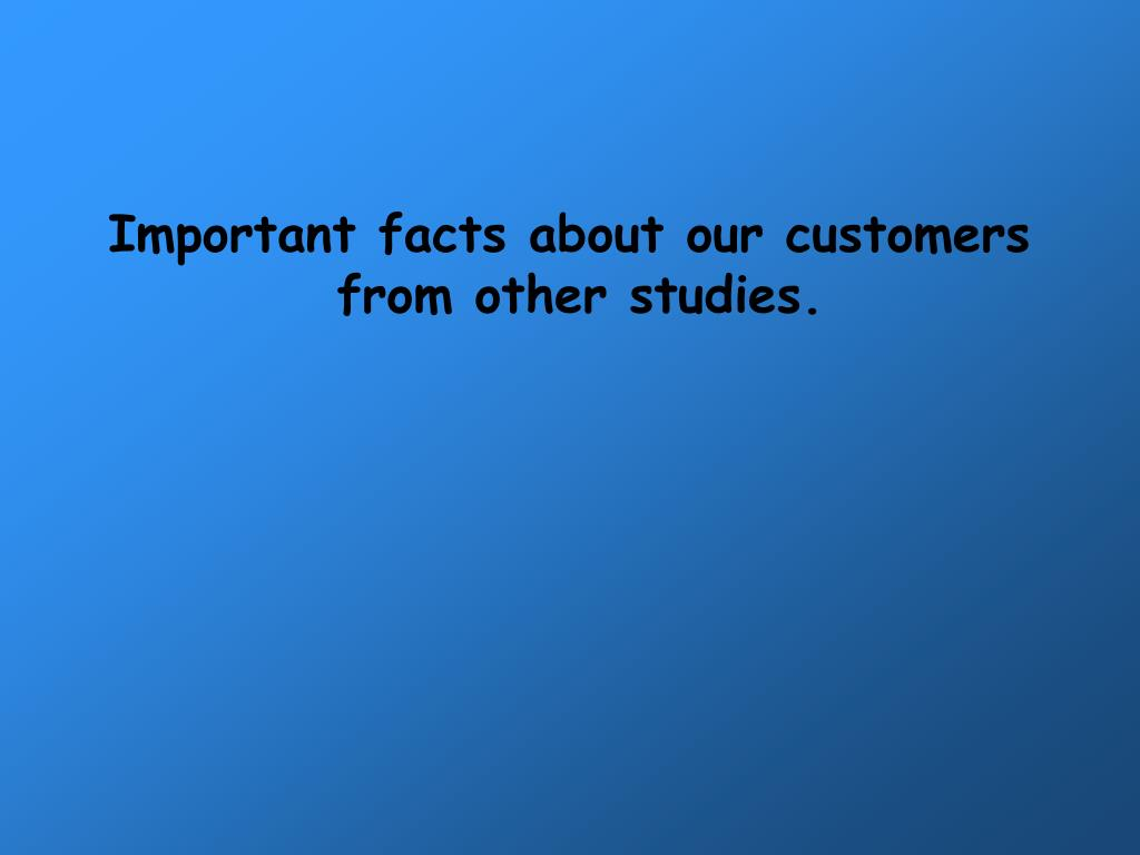 Important facts about our customers