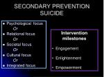 secondary prevention suicide