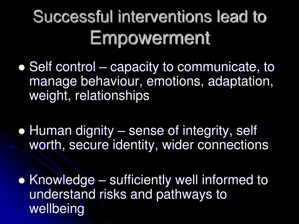 Successful interventions lead to
