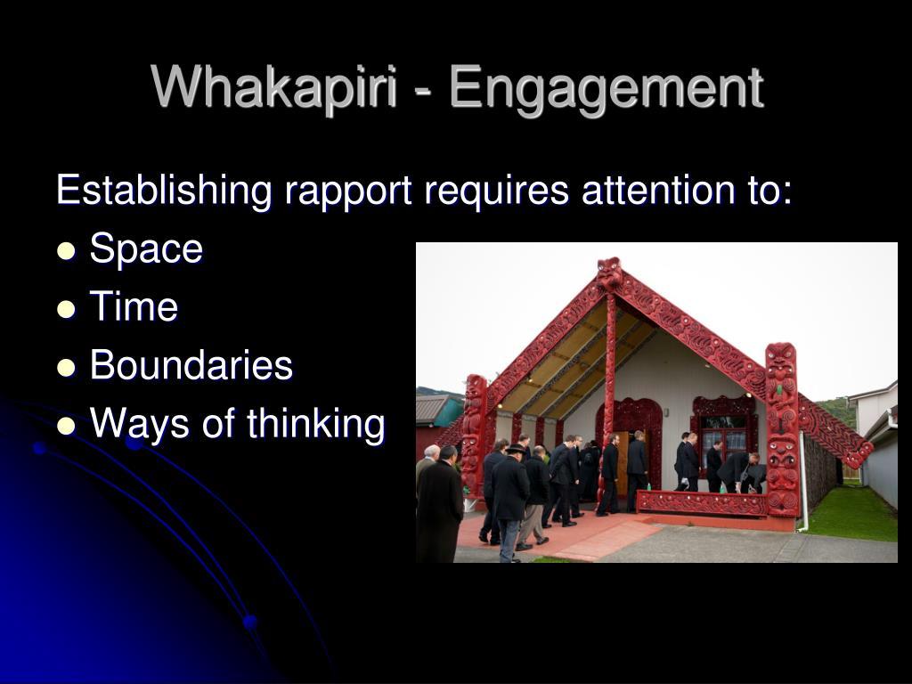 Whakapiri - Engagement