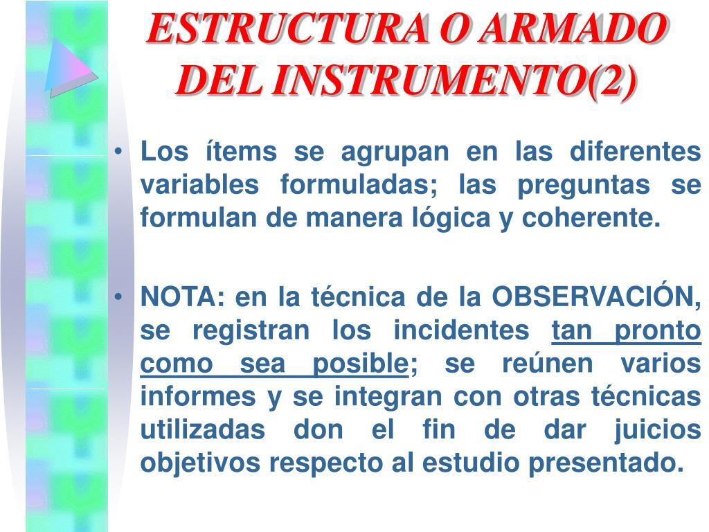 ESTRUCTURA O ARMADO DEL INSTRUMENTO(2)