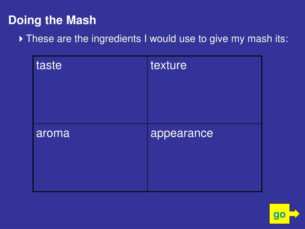 Doing the Mash