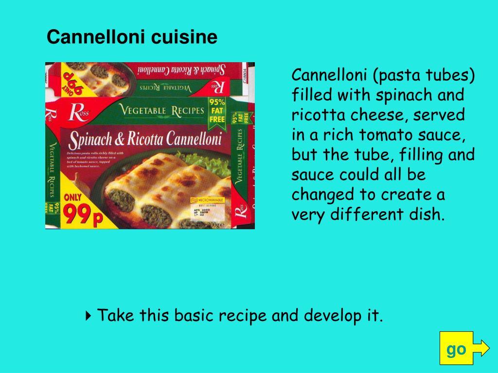 Cannelloni cuisine