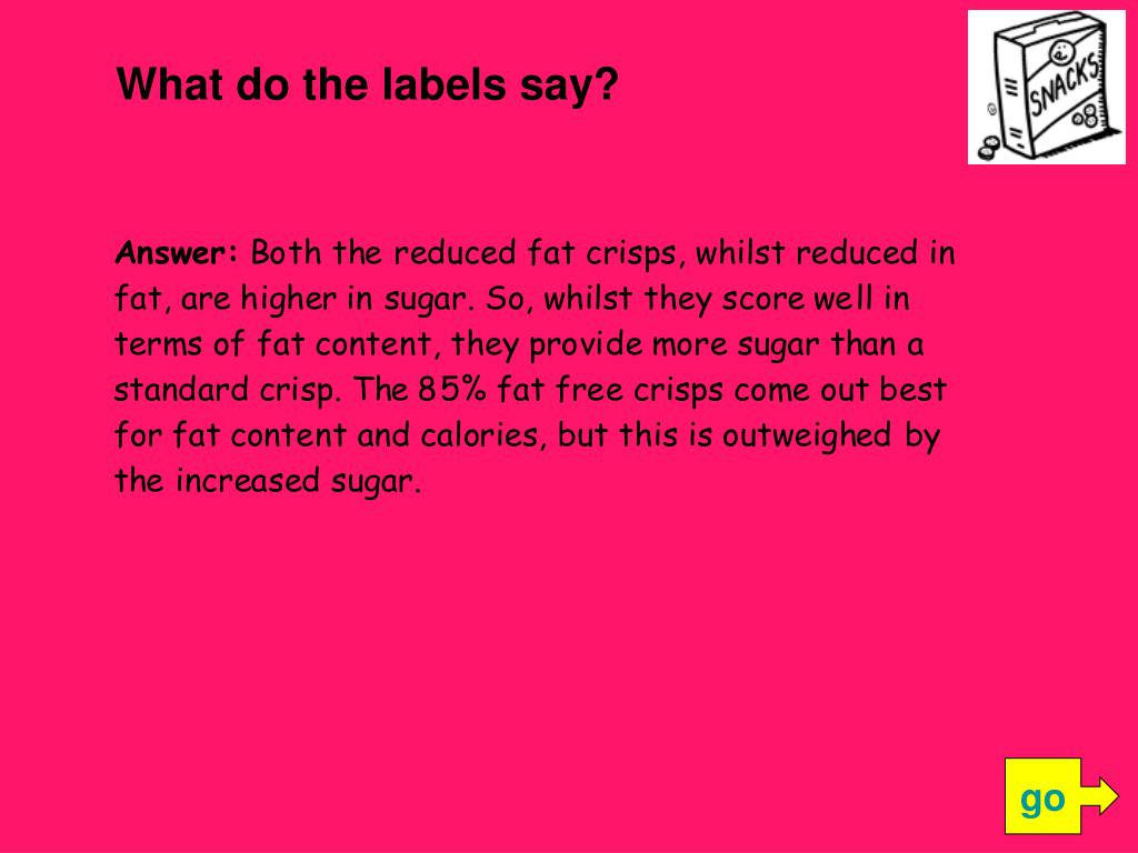 What do the labels say?