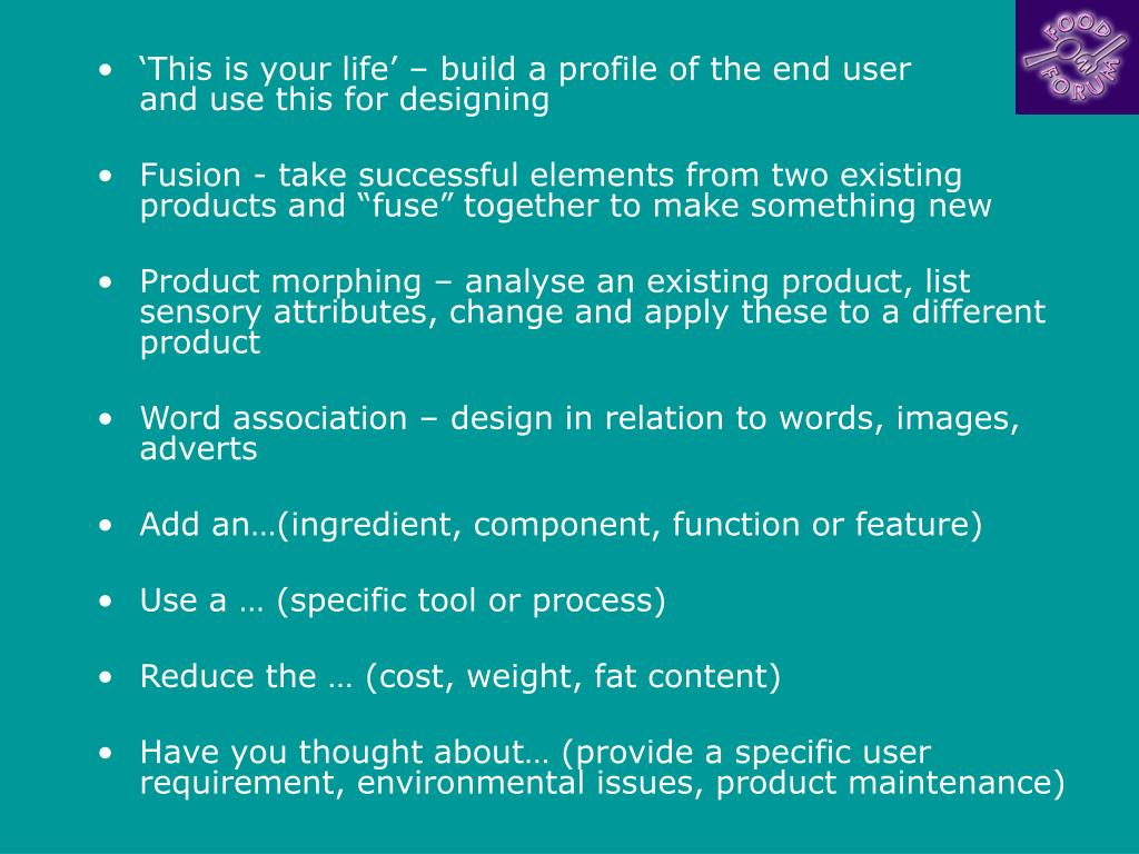 'This is your life' – build a profile of the end user