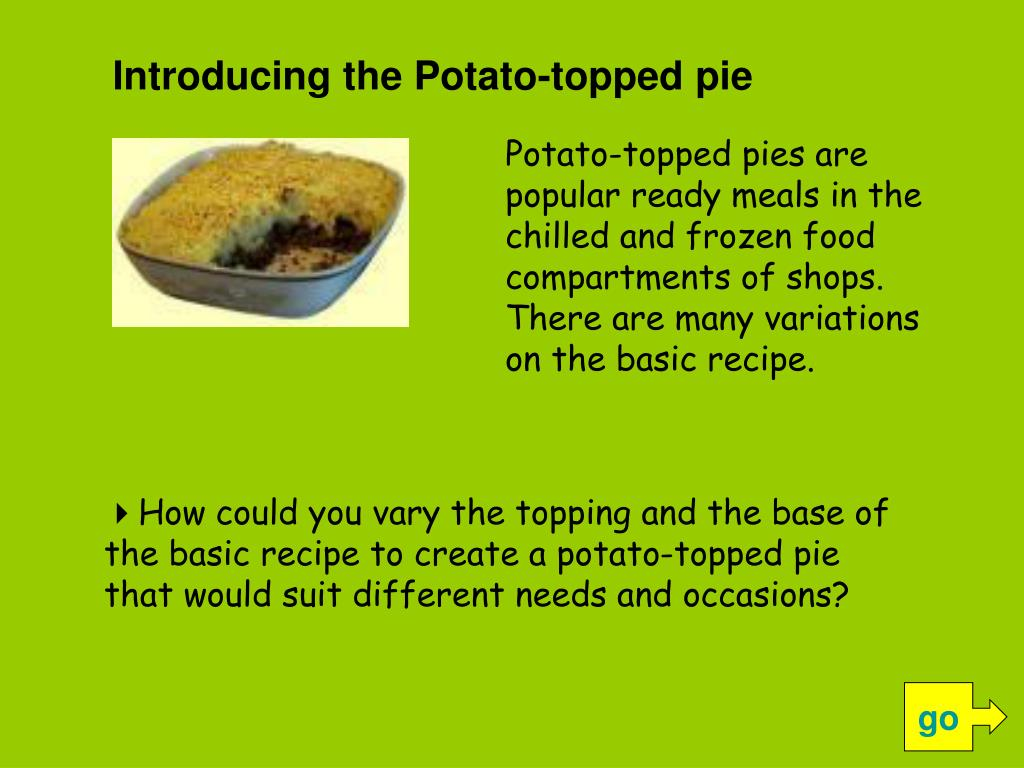 Introducing the Potato-topped pie