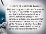 history of climbing everest9