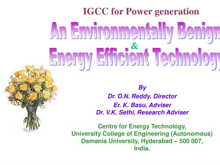 Igcc for power generation