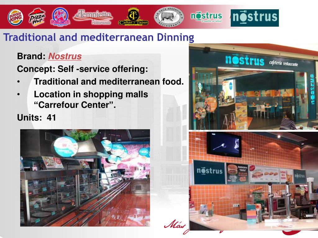 Traditional and mediterranean Dinning