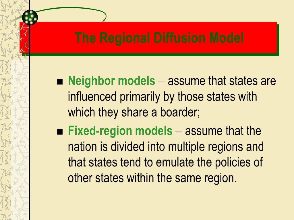 The Regional Diffusion Model