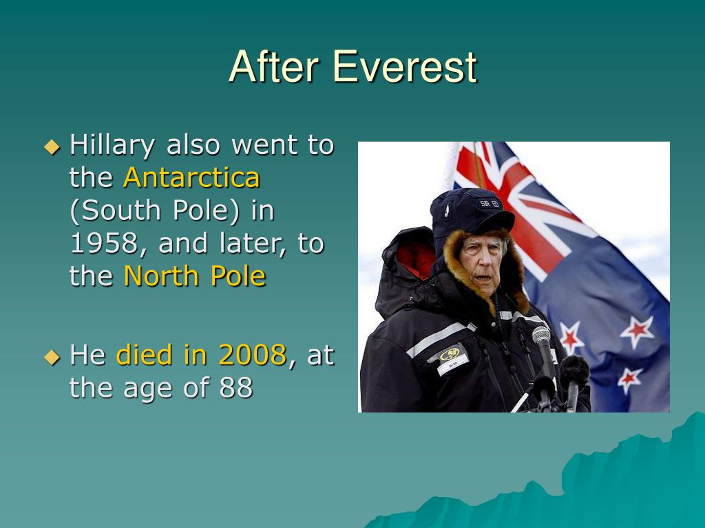 After Everest