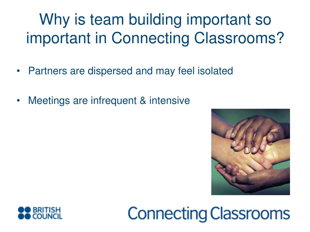 Why is team building important so important in Connecting Classrooms?