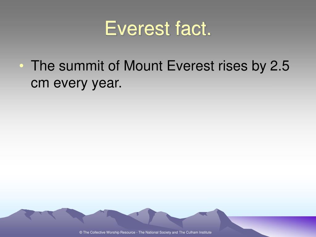 Everest fact.