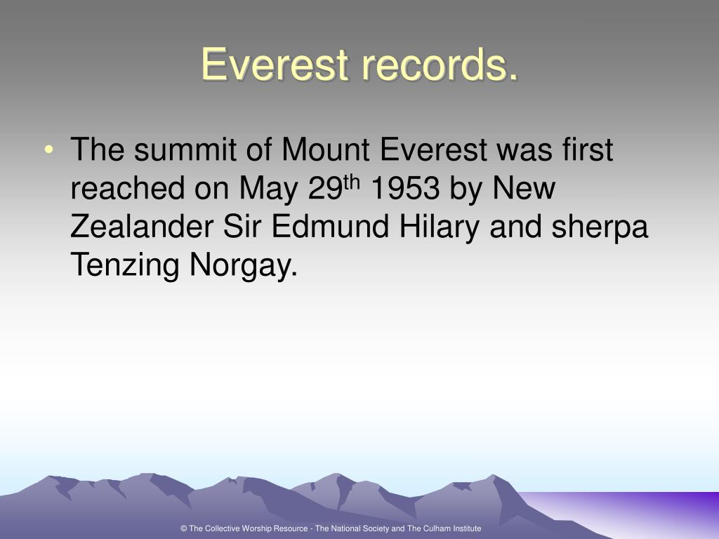 Everest records.