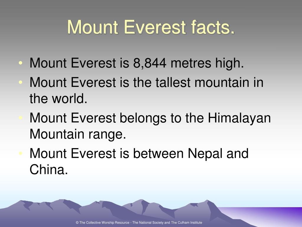 Mount Everest facts.