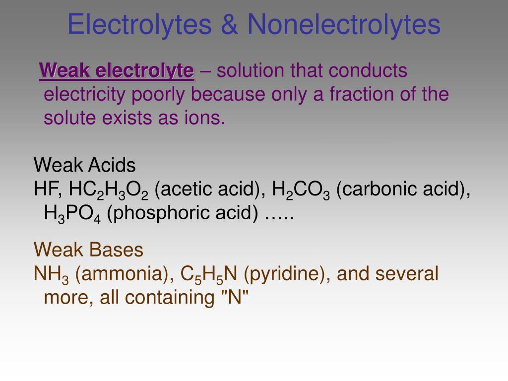 Electrolytes & Nonelectrolytes