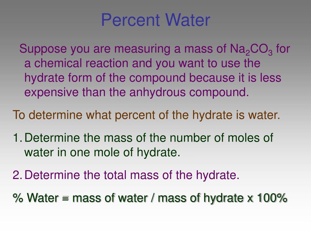 Percent Water