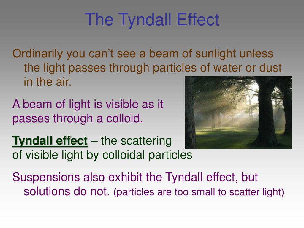 The Tyndall Effect