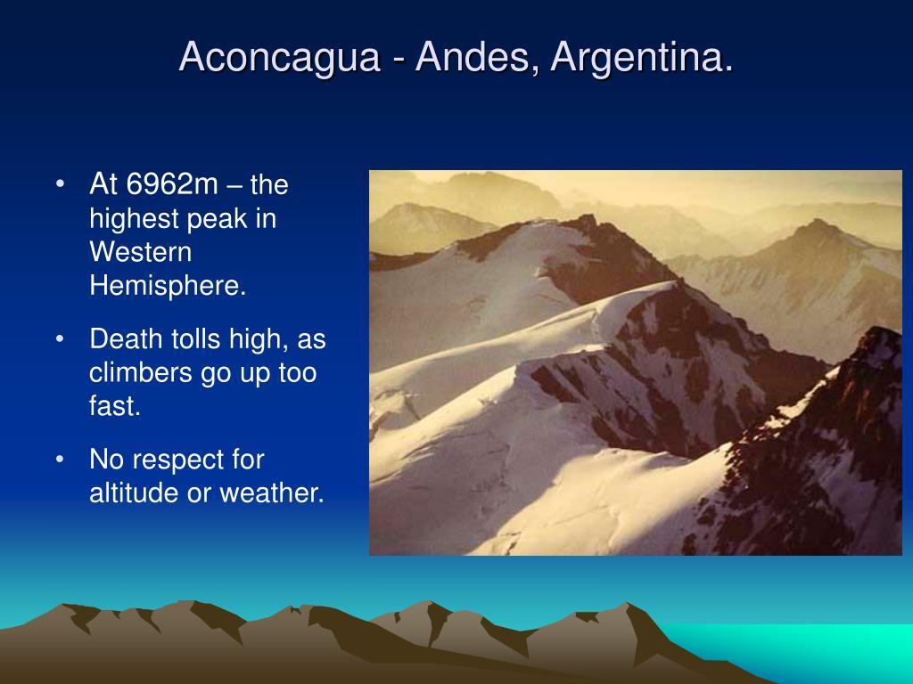 Aconcagua - Andes, Argentina.