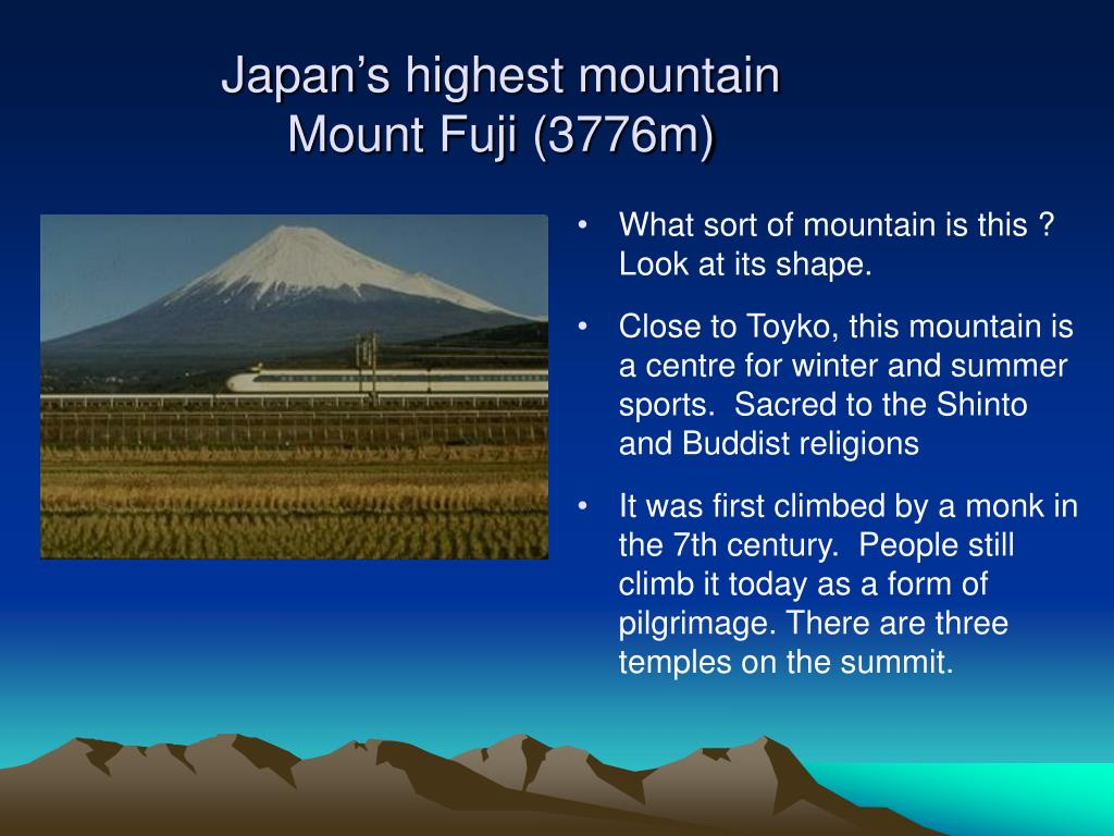Japan's highest mountain