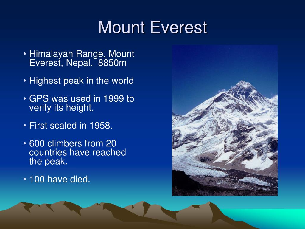 Himalayan Range, Mount Everest, Nepal.  8850m