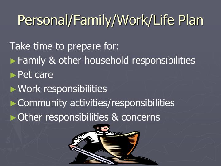 Personal/Family/Work/Life Plan
