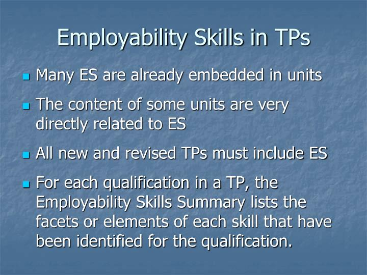 Employability Skills in