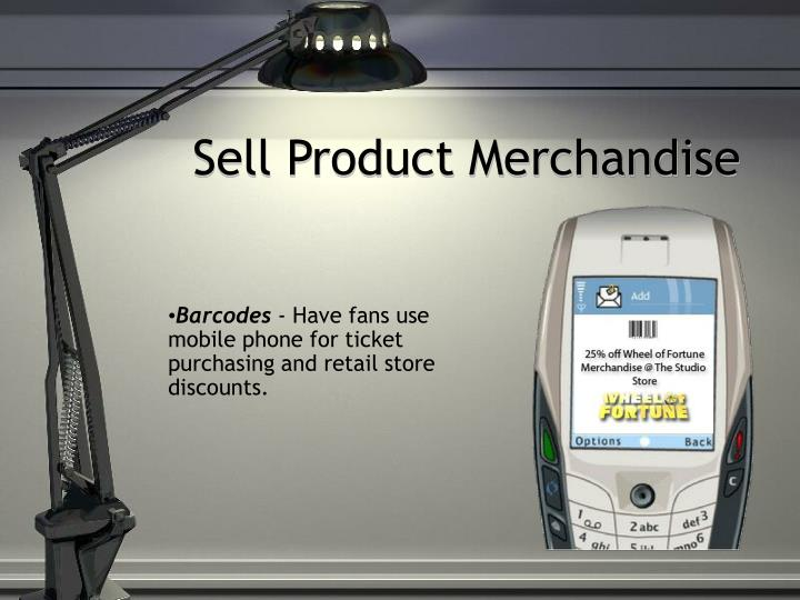 Sell Product Merchandise