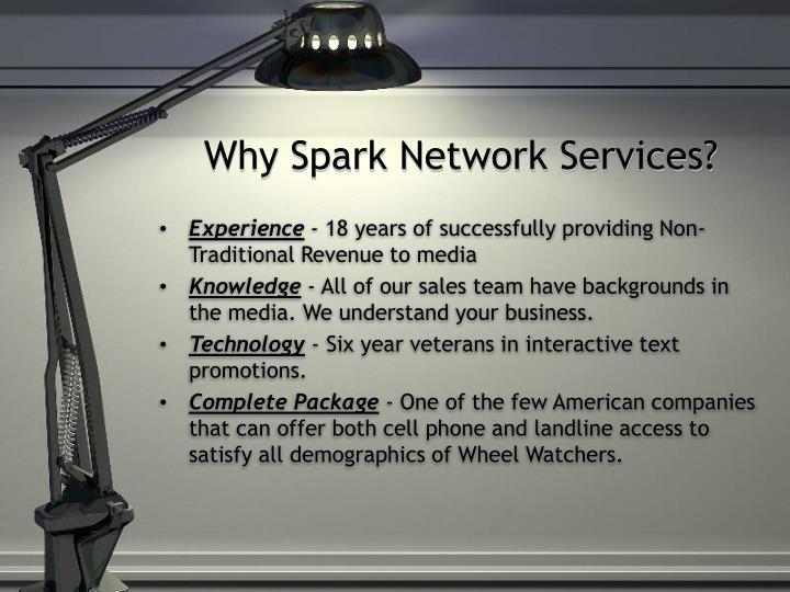Why Spark Network Services?