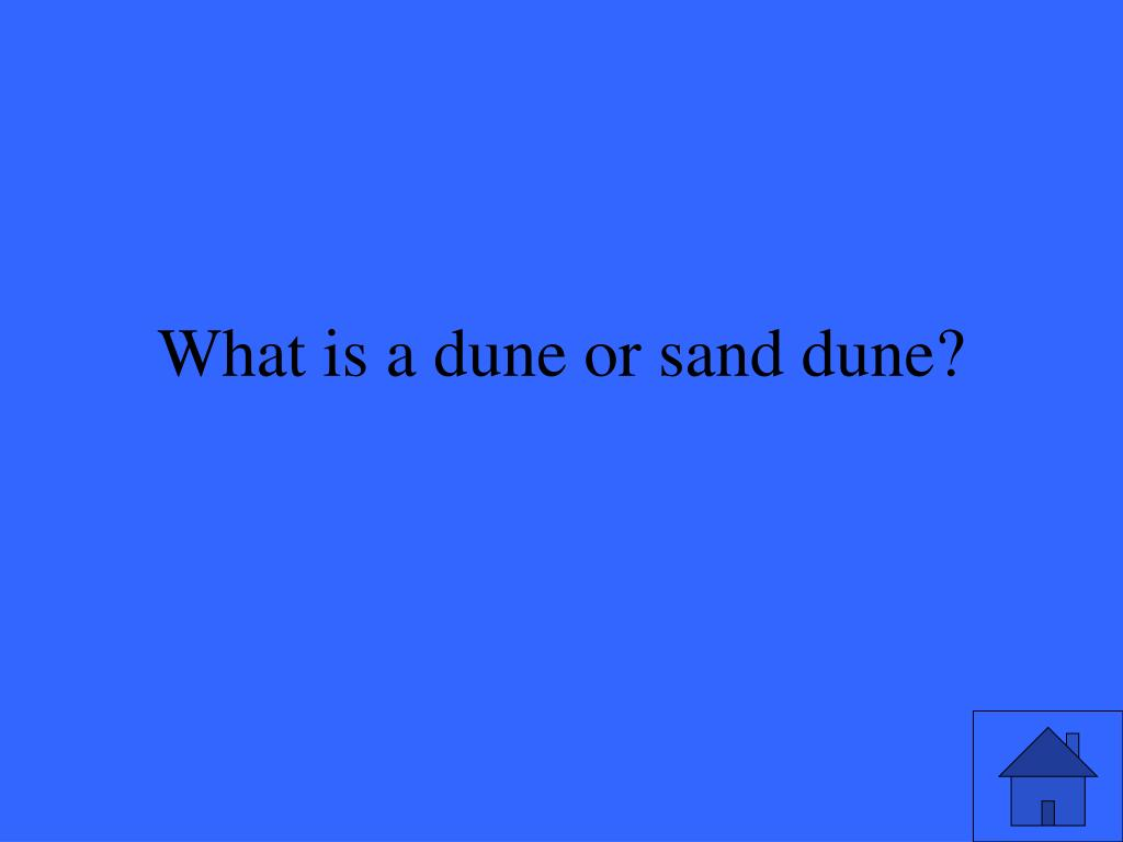 What is a dune or sand dune?