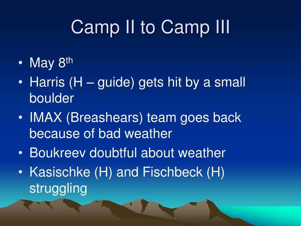 Camp II to Camp III