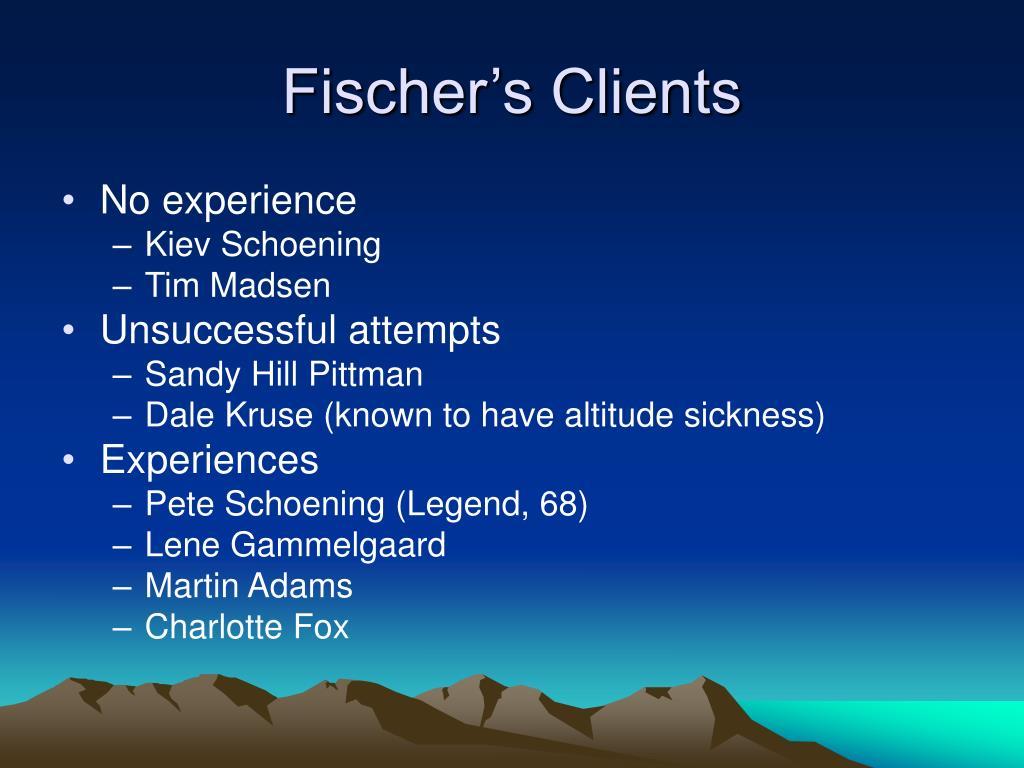 Fischer's Clients