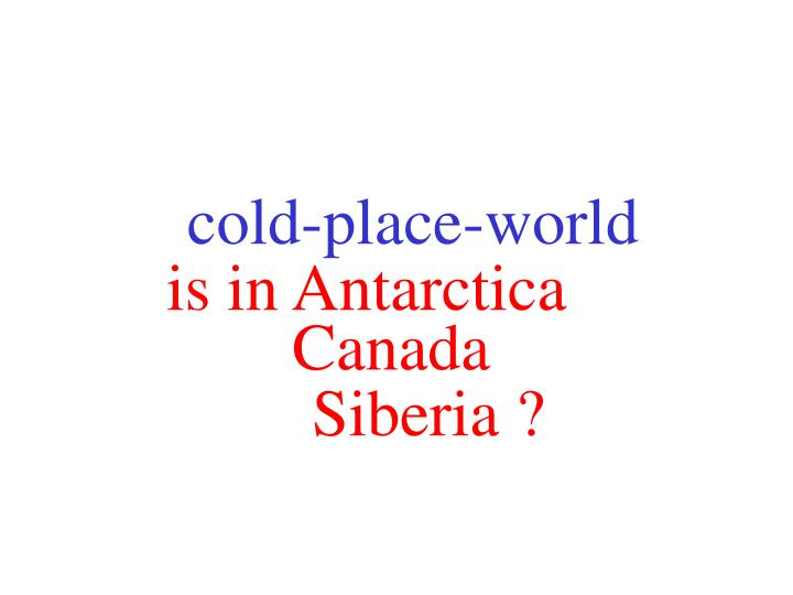 Cold-place-world