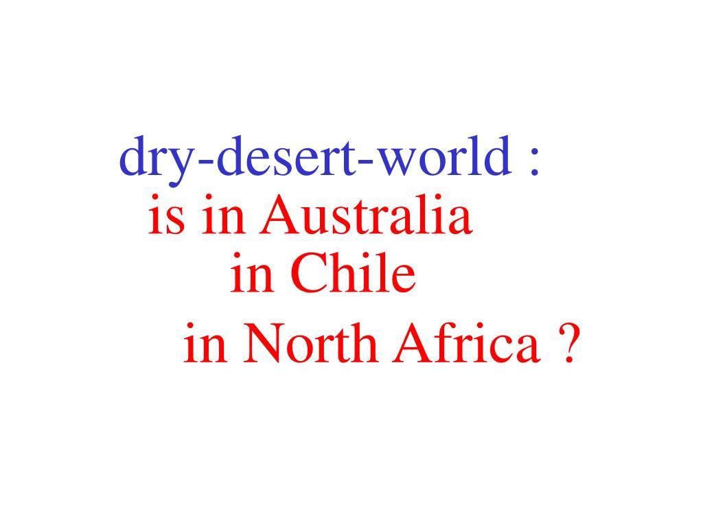 dry-desert-world :