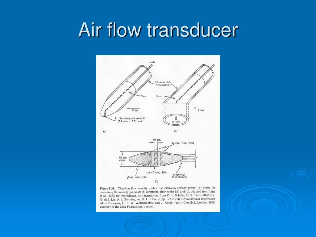 Air flow transducer