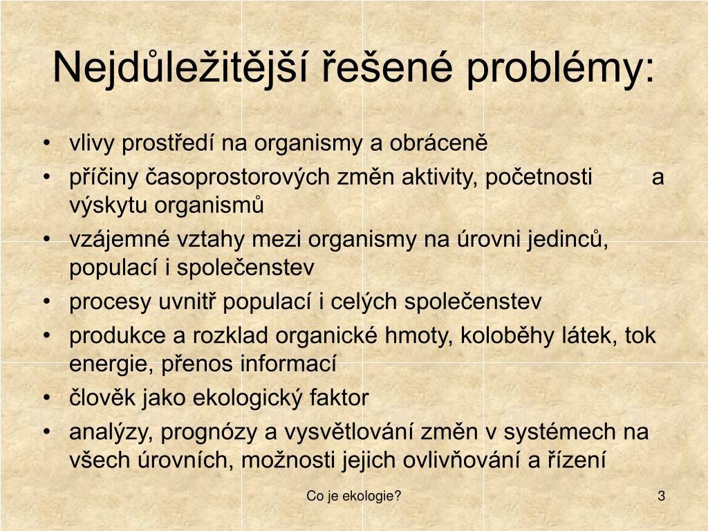 Nejdůležitější řešené problémy: