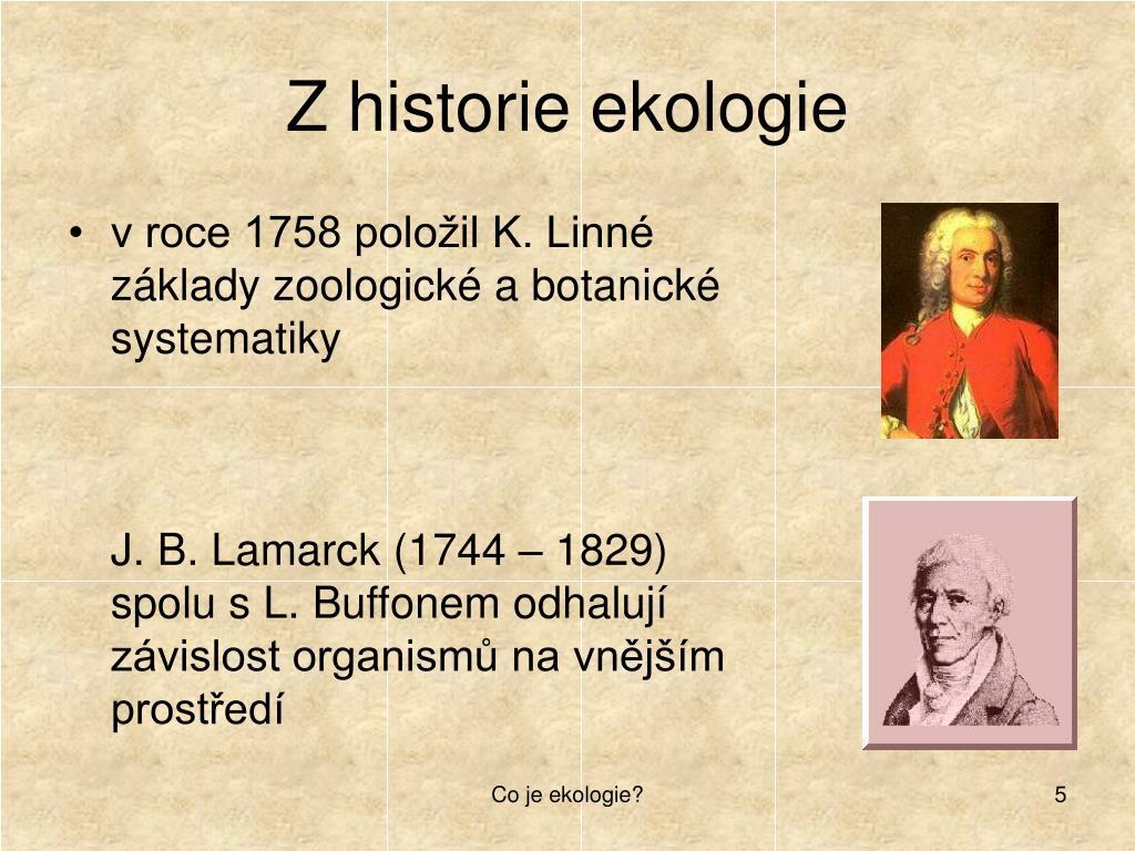 Z historie ekologie