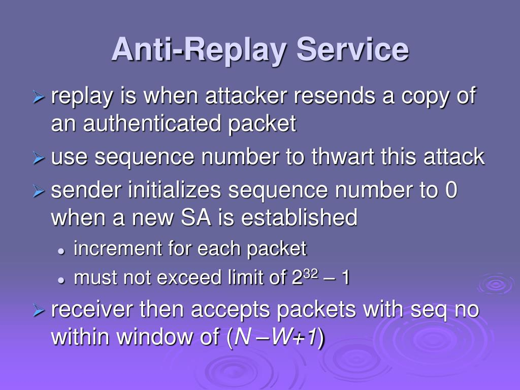 Anti-Replay Service