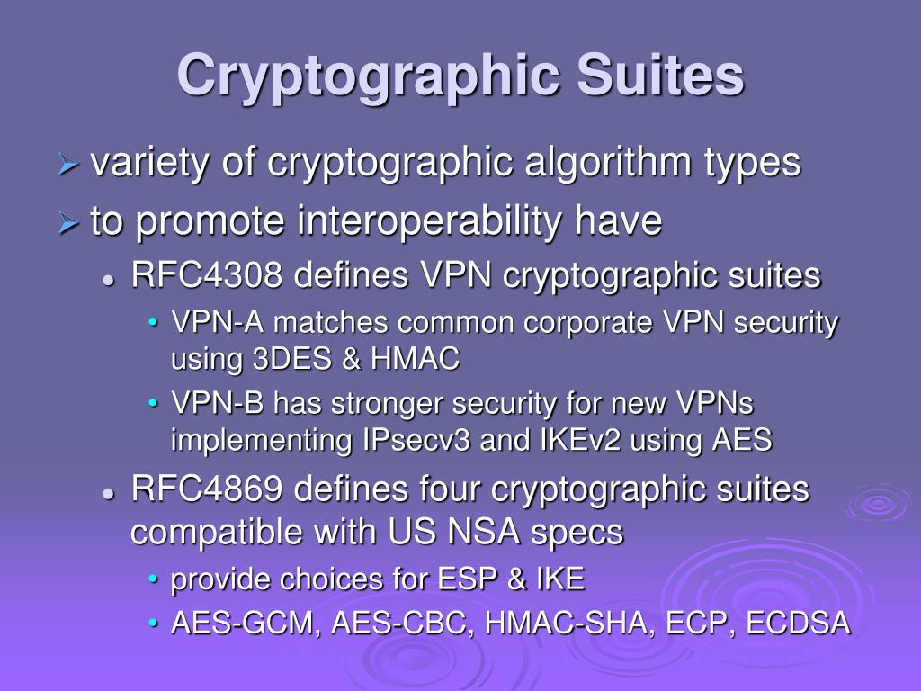 Cryptographic Suites